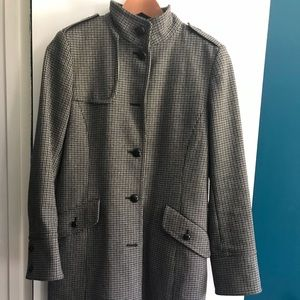 Kenneth Cole Wool houndstooth coat, sz 6